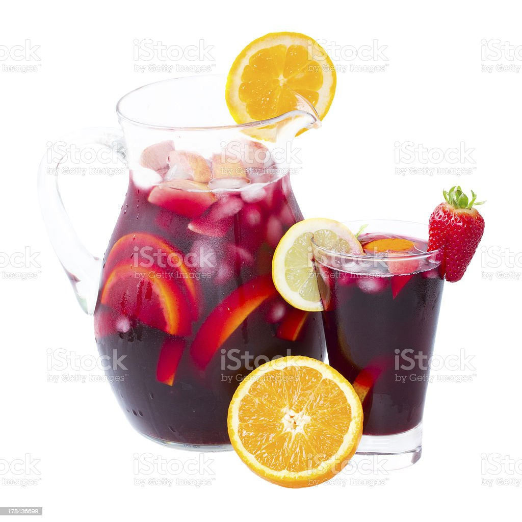 jar of sangria stock photo