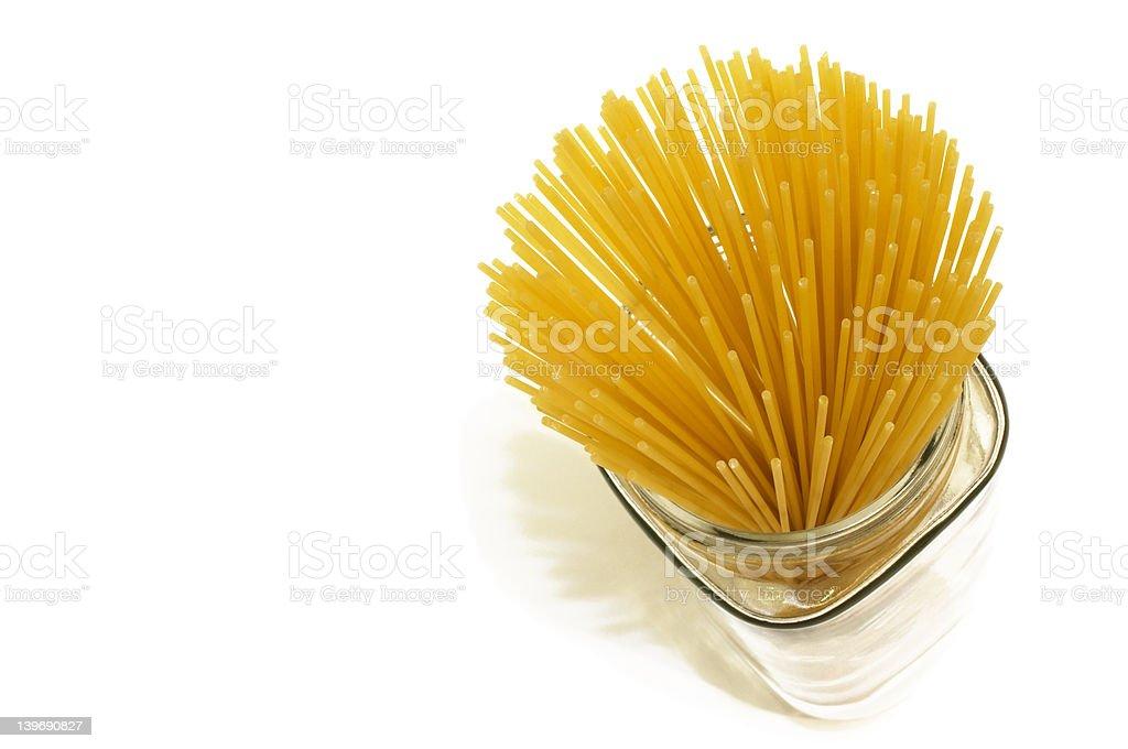 Jar of Spaghetti royalty-free stock photo