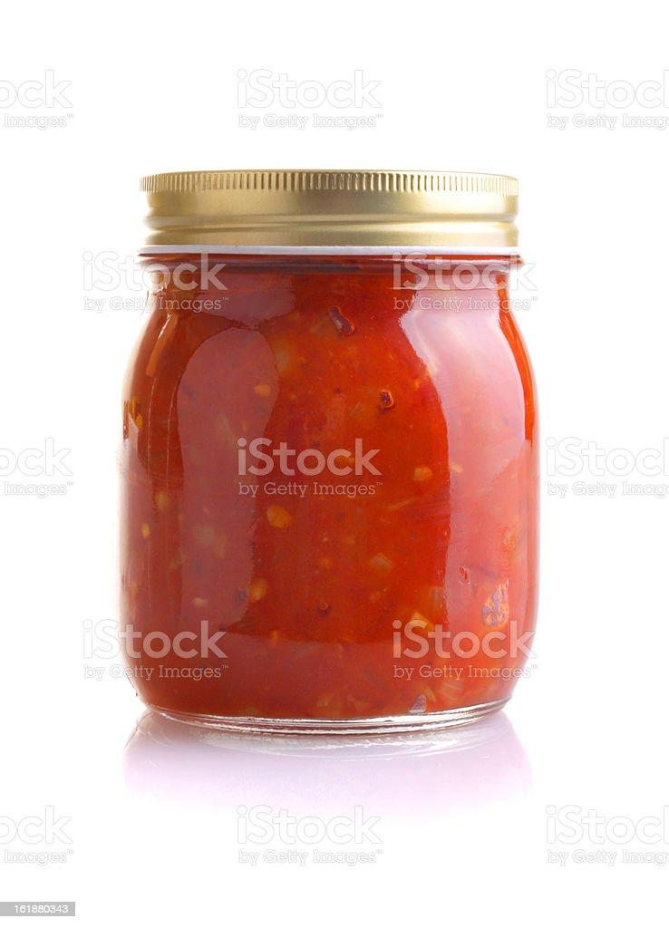 Jar of tomato relish royalty-free stock photo