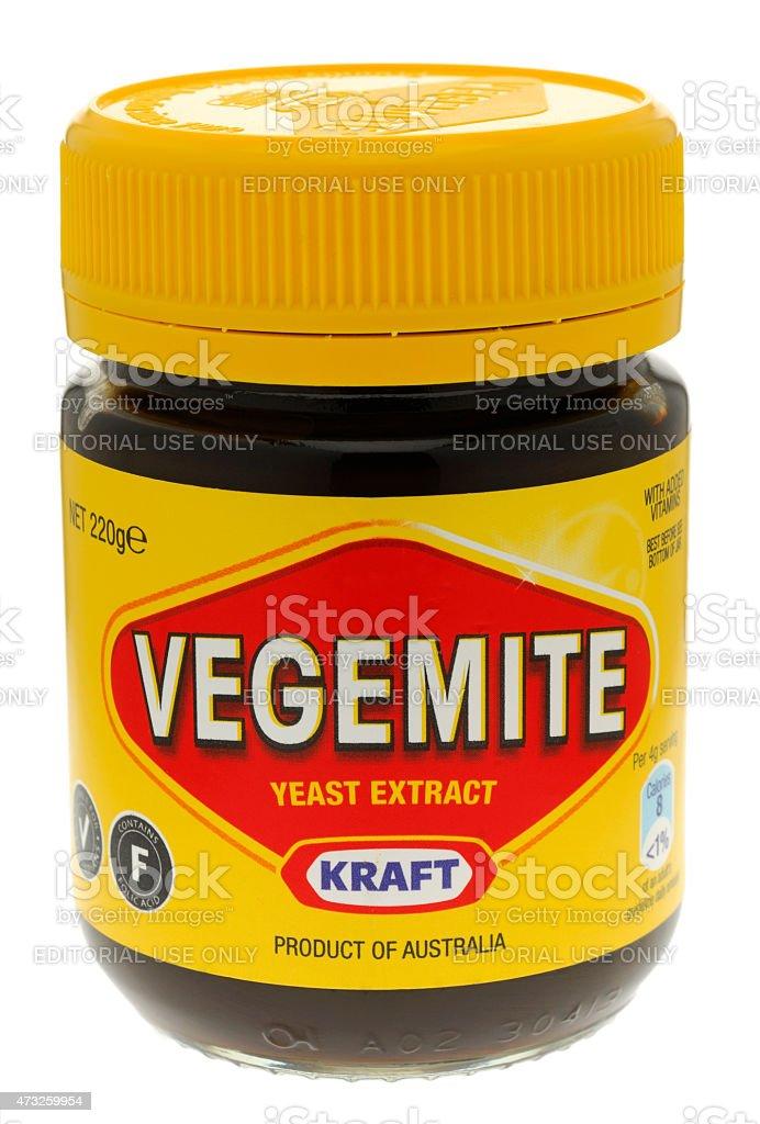 Jar of Vegemite stock photo