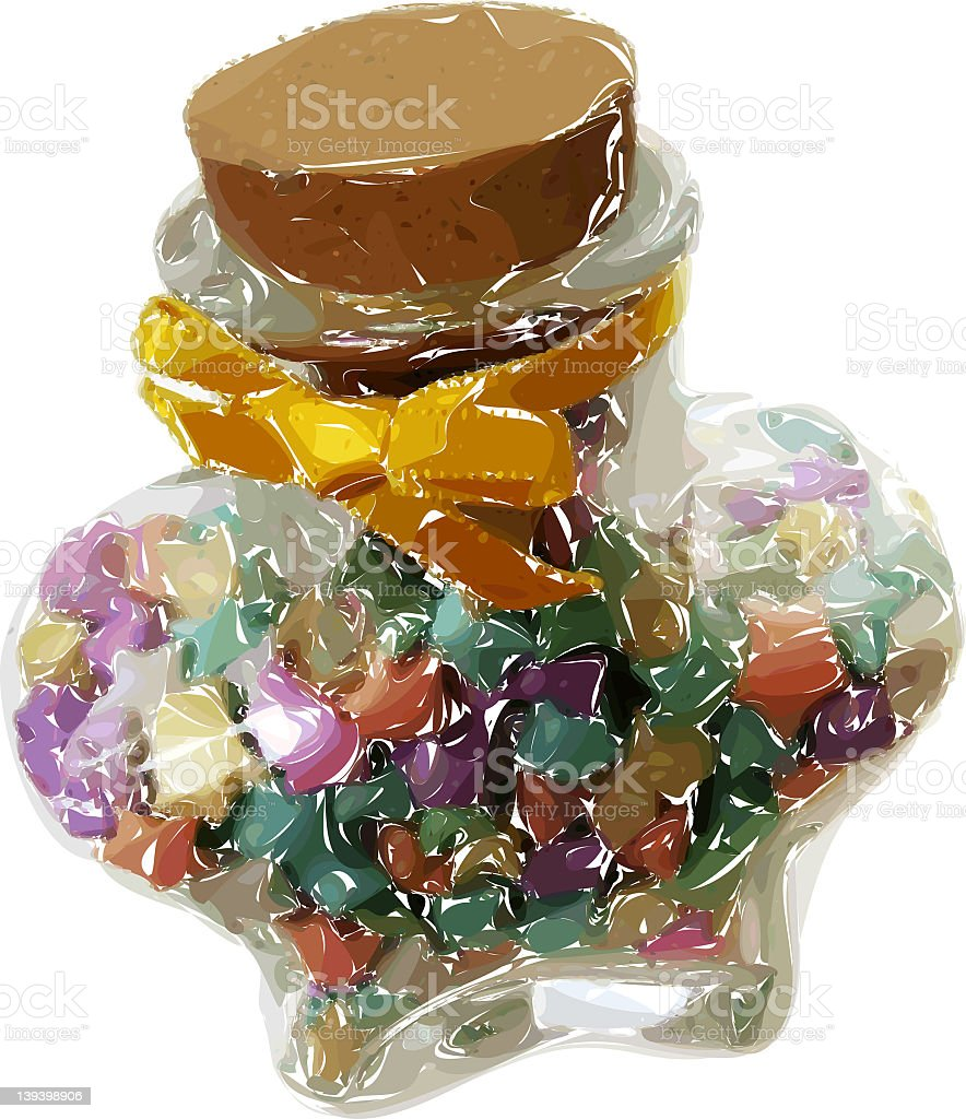 Jar of wishes royalty-free stock photo