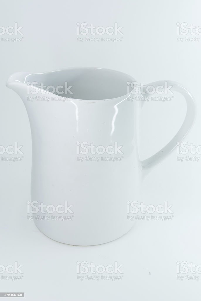 jar on a white background. royalty-free stock photo