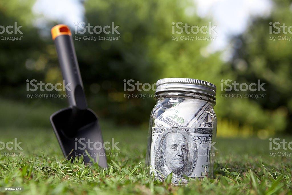 jar savings stock photo