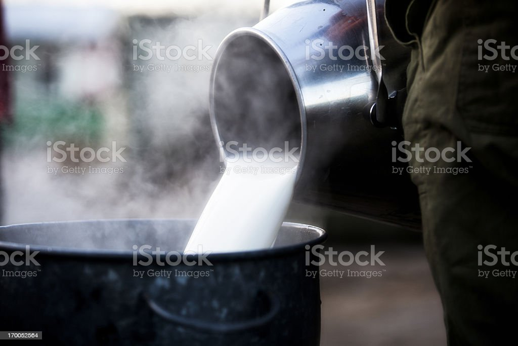 Jar with fresh milk stock photo