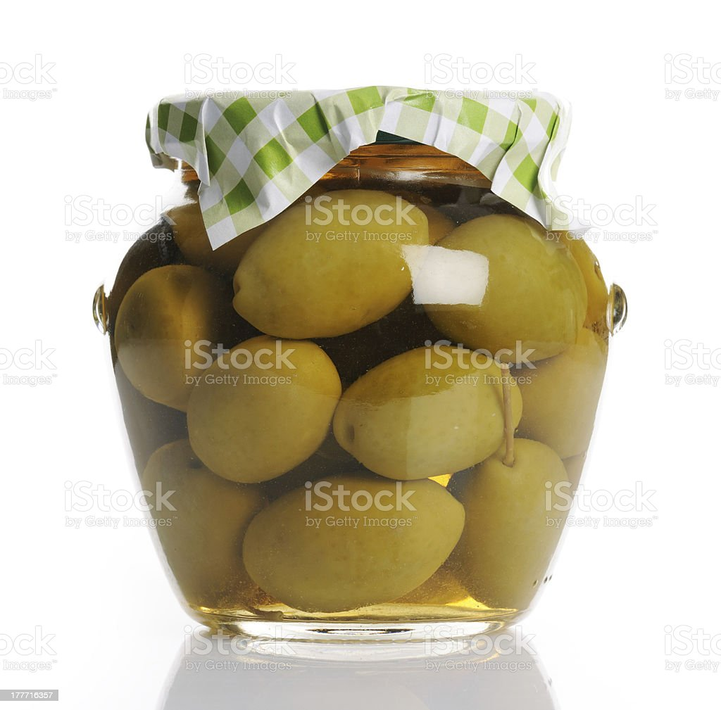 jar with olives royalty-free stock photo