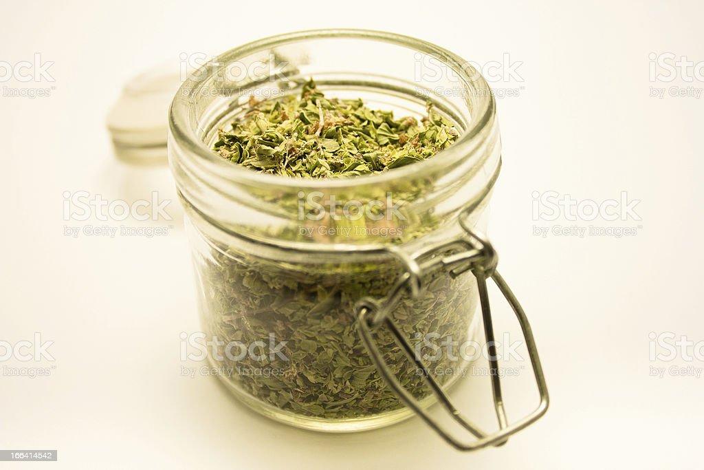 jar with oregano royalty-free stock photo