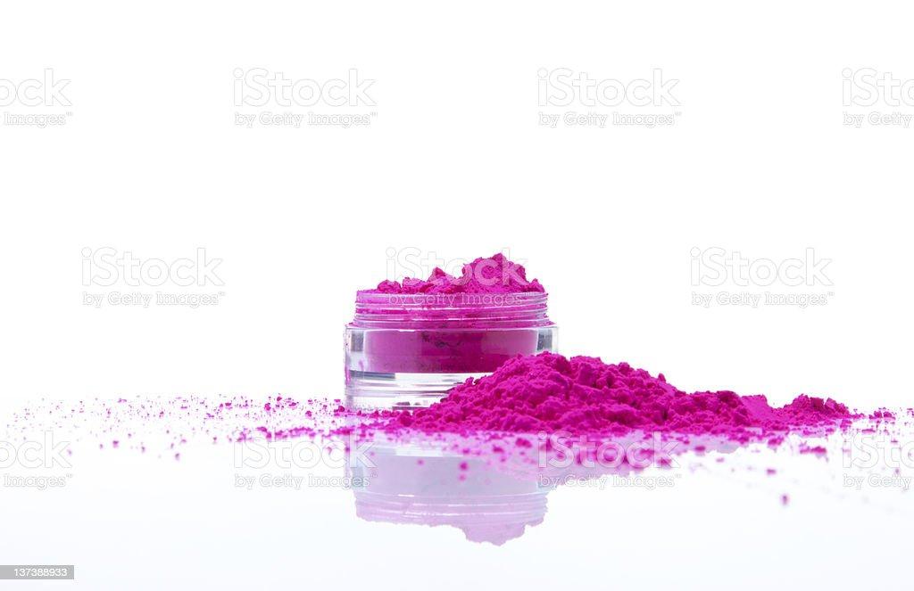Jar with powder royalty-free stock photo