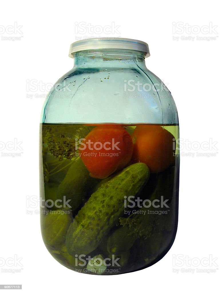 Jar with vegetables royalty-free stock photo