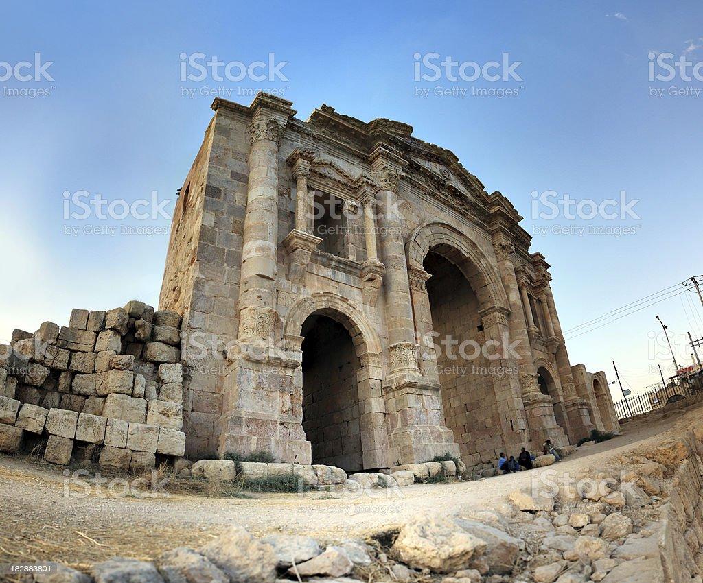 Jarash Ruins stock photo