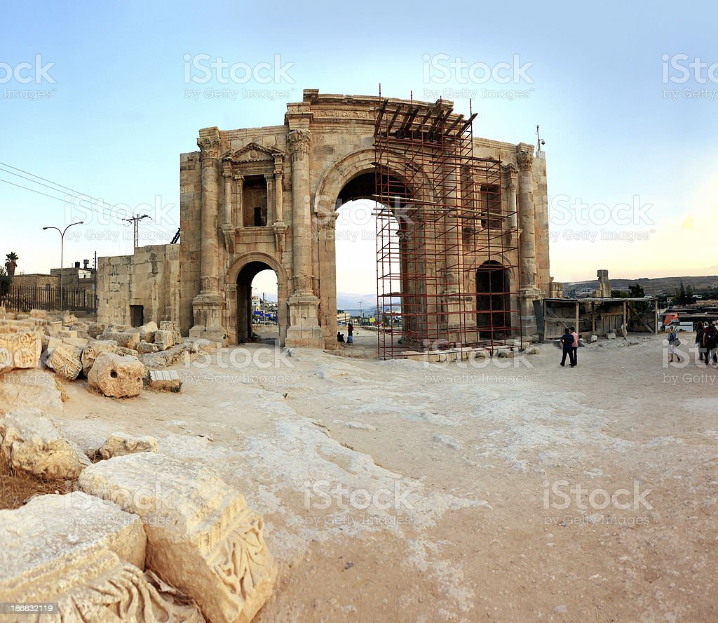 Jarash Ruins royalty-free stock photo