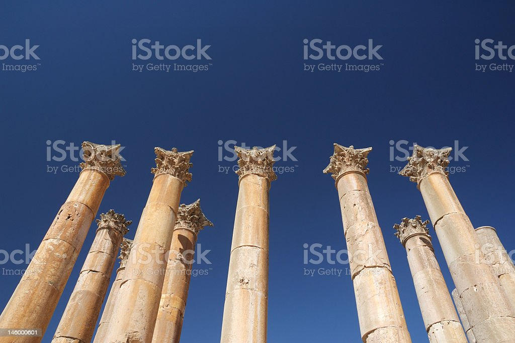 Jarash - temple of Artemis, Colomnade stock photo