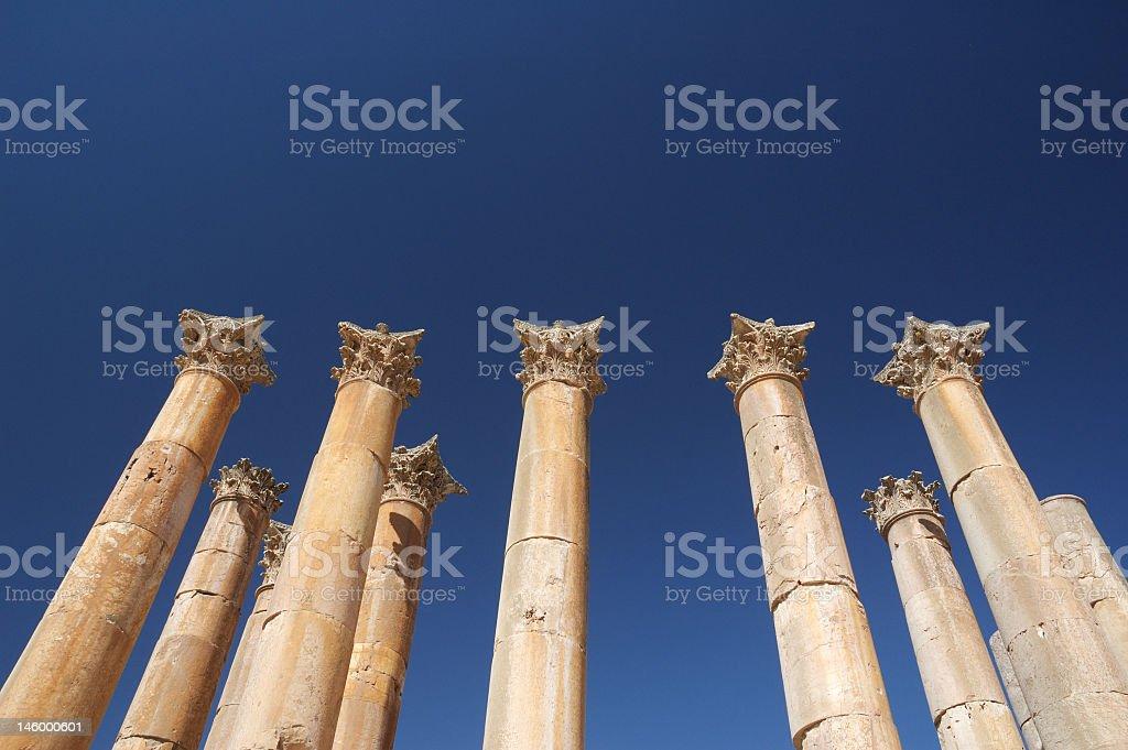 Jarash - temple of Artemis, Colomnade stock photo