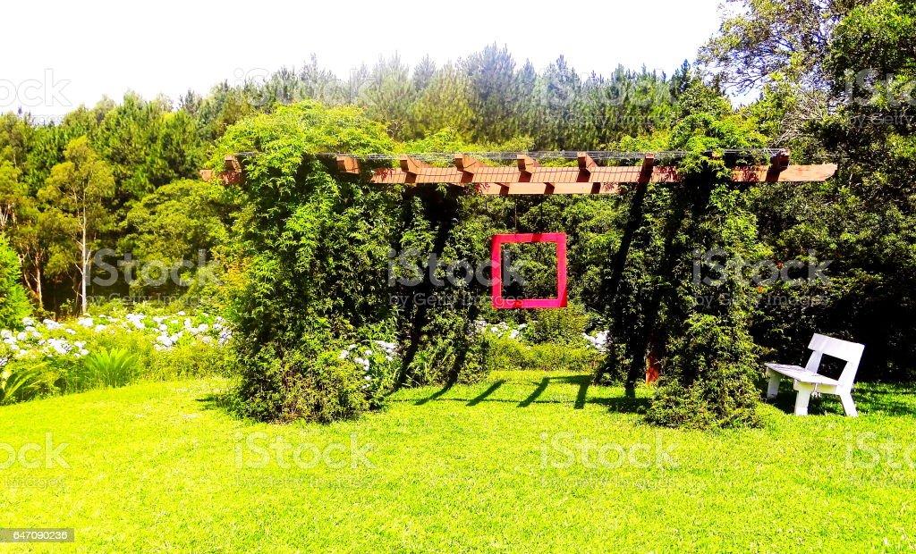 Jardim Zen. stock photo