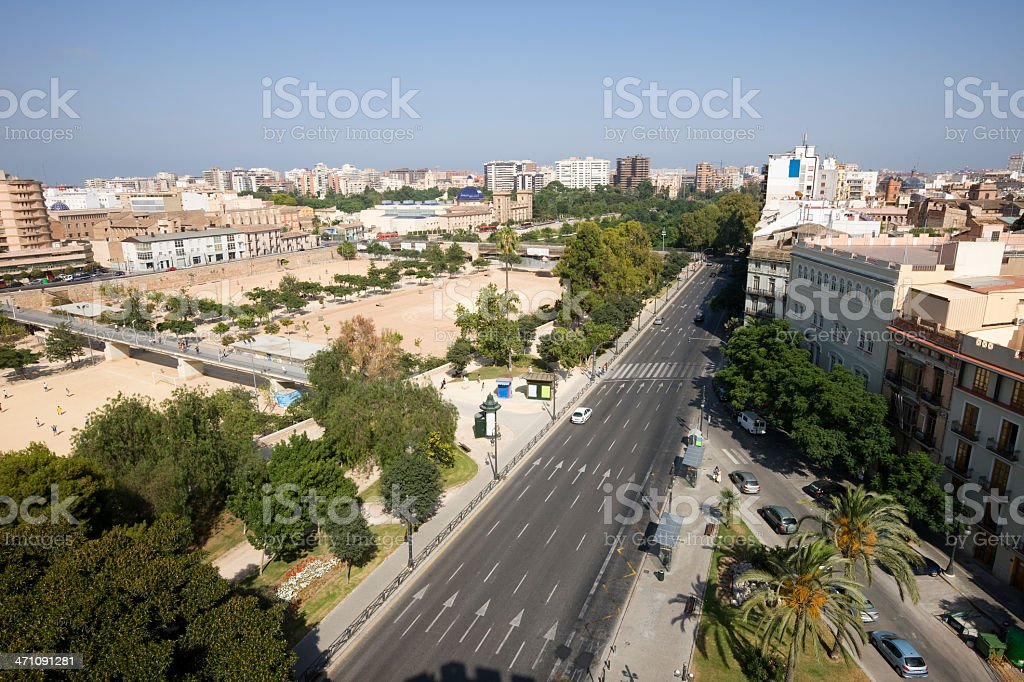 Jardin del Turia in Valencia stock photo