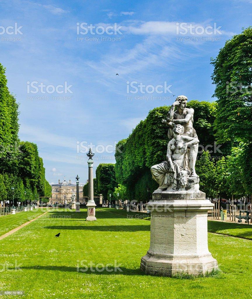 Jardin des Grands Explorateaurs-Paris stock photo