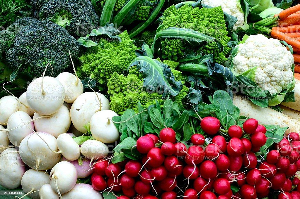 Jardinière de légumes du marché stock photo