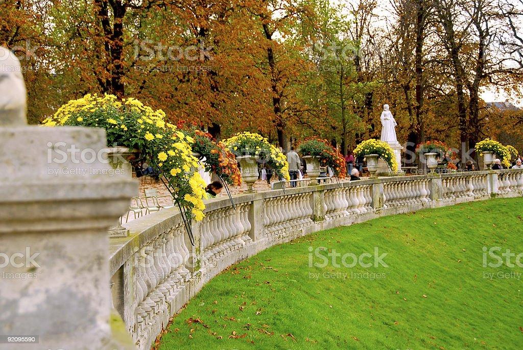 Jardins du Luxembourg royalty-free stock photo