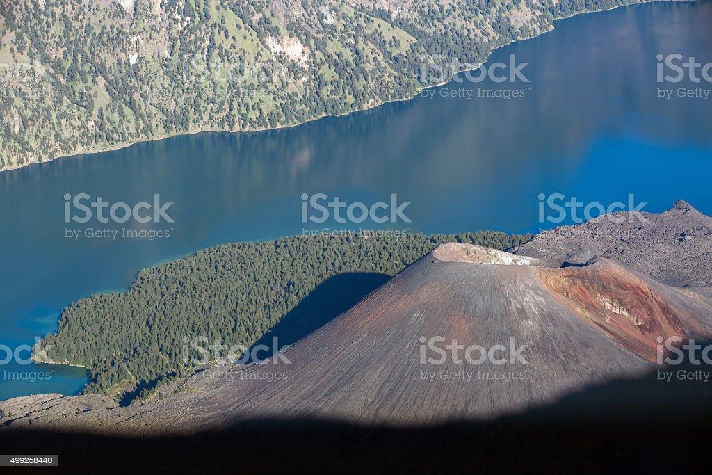 Jari Baru volcano stock photo