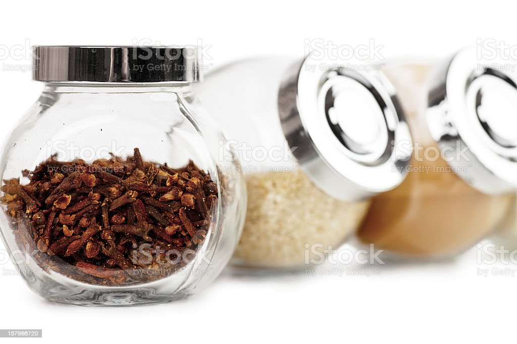 Jars with spices royalty-free stock photo