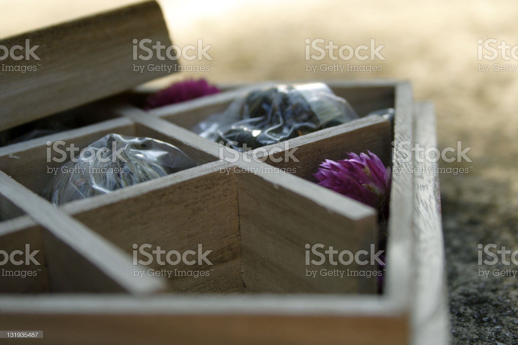 Jasmin flower tea box royalty-free stock photo