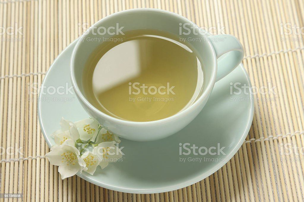 Jasmine and green tea royalty-free stock photo
