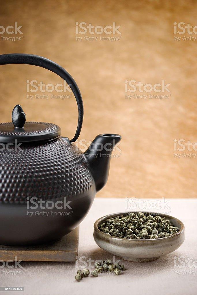 Jasmine Pearl Tea stock photo