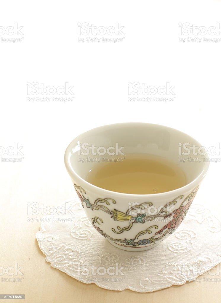 Jasmine tea in no brand cup stock photo
