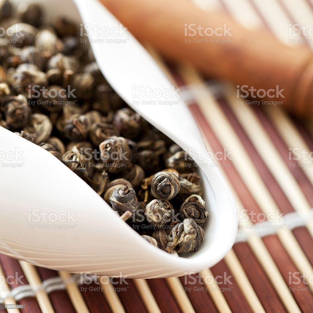 Jasmine Tea Is Green. royalty-free stock photo