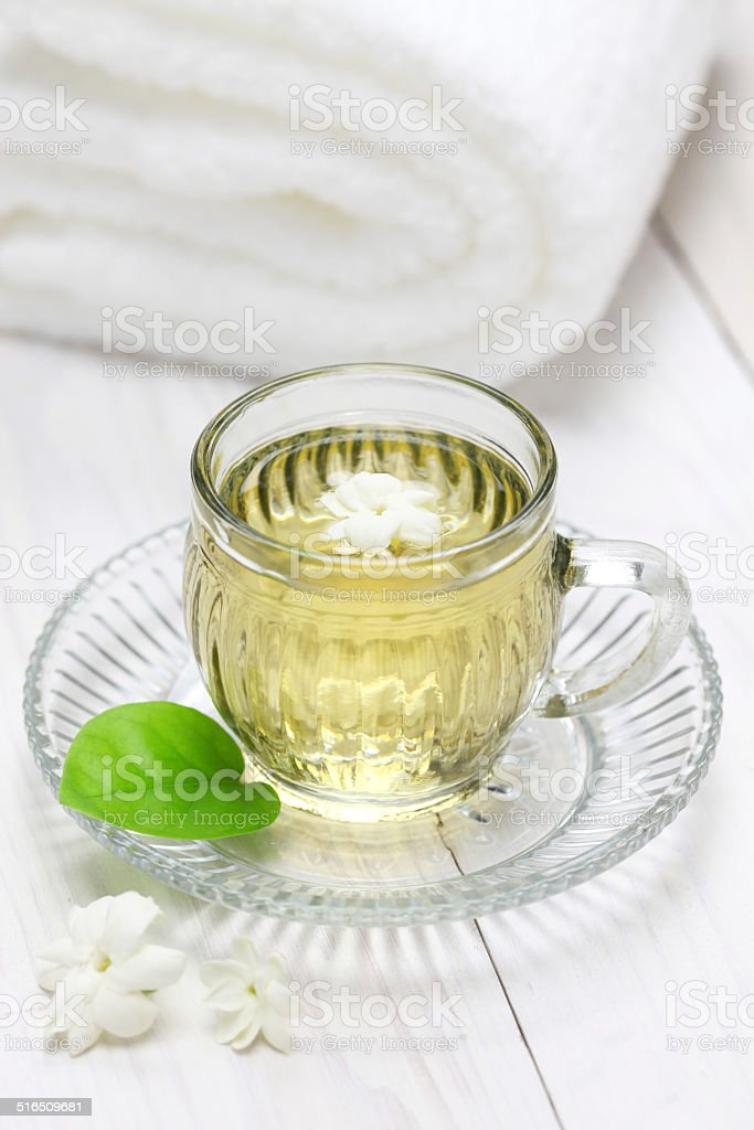 jasmine tea stock photo