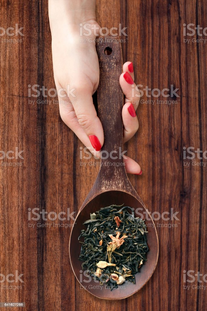 Jasmine tea stock photo
