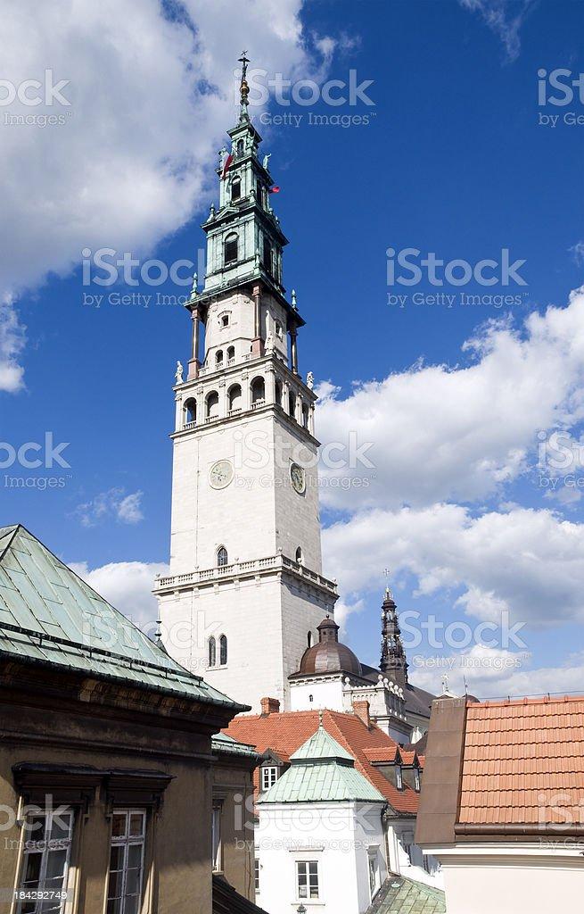 Jasna Gora sanctuary in Czestochowa - Poland stock photo