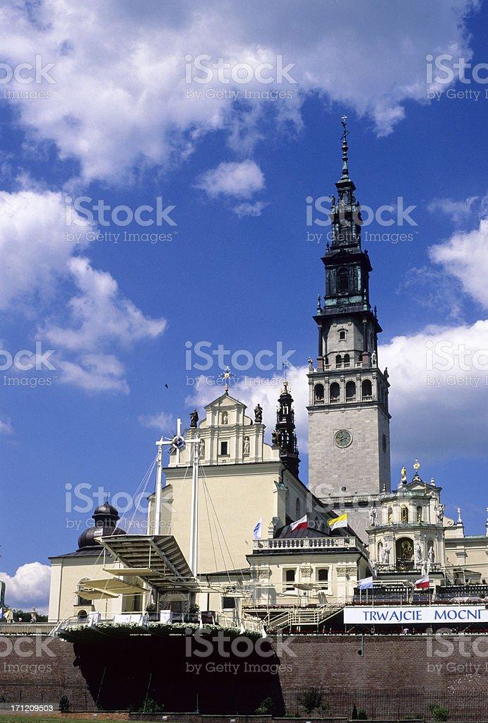 Jasna-Gora sanctuary in Czestochowa stock photo