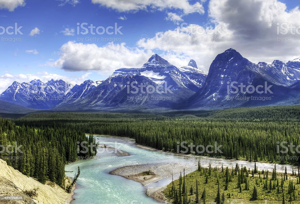 Jasper National Park Landscape - HDR stock photo