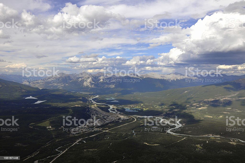 Jasper seen from Mount Whistlers royalty-free stock photo