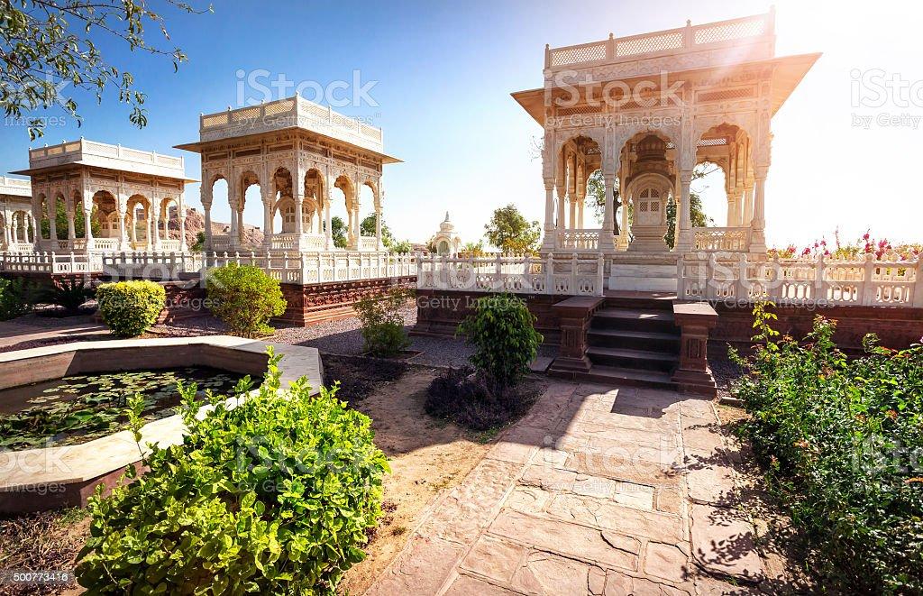 Jaswant Thada cenotaph memorial in India stock photo