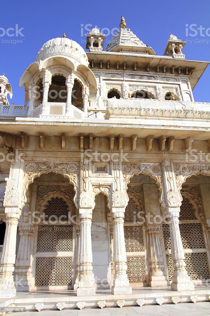 Jaswant Thada mausoleum in India royalty-free stock photo