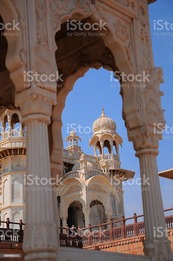 Jaswant Thada, near Meherangarh Fort, Jodhpur, Rajasthan, India. stock photo