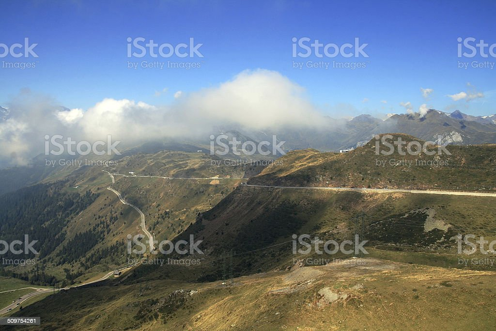 Jaufenpass in South Tyrol stock photo