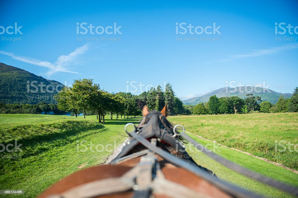 Jaunting in Killarney stock photo