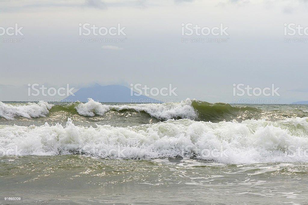 java sea coast stock photo