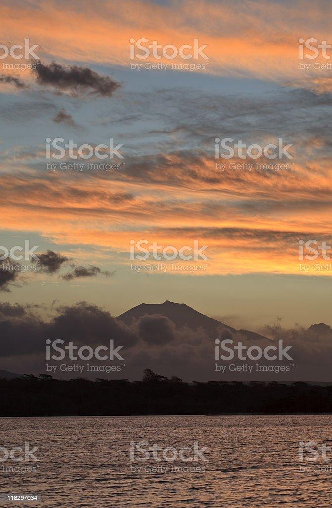 Jave volcano stock photo