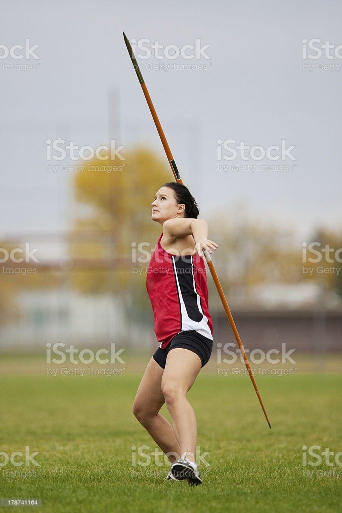 Javelin athlete stock photo