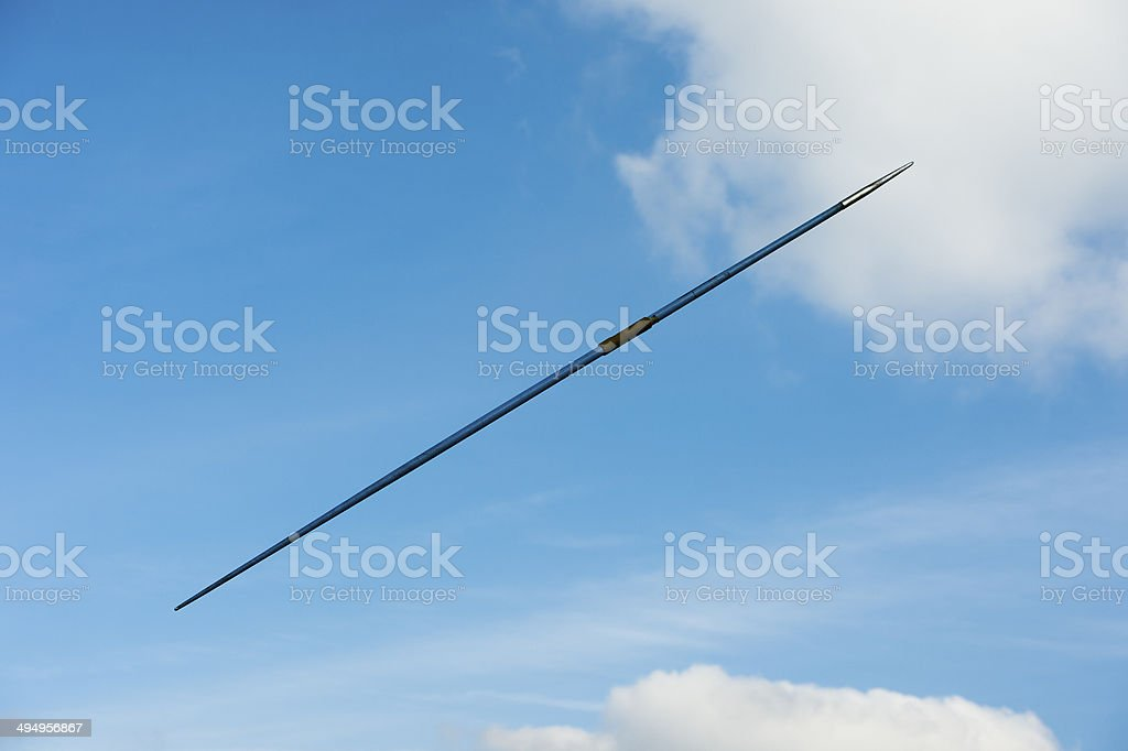 Javelin in Mid-air stock photo