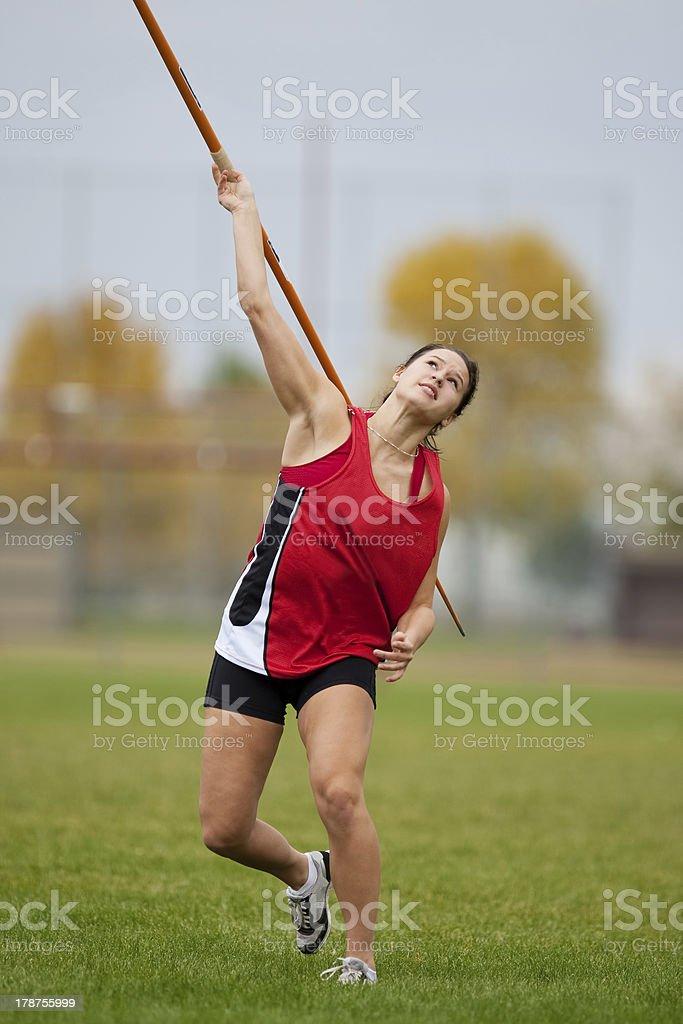 Javelin throw stock photo