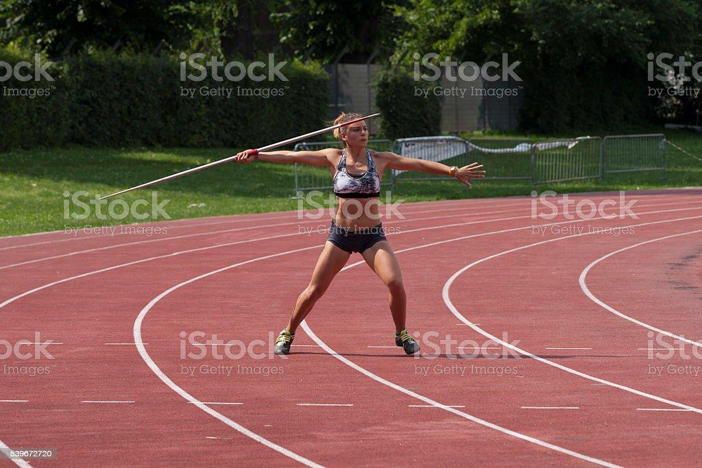 javelin throw. stock photo