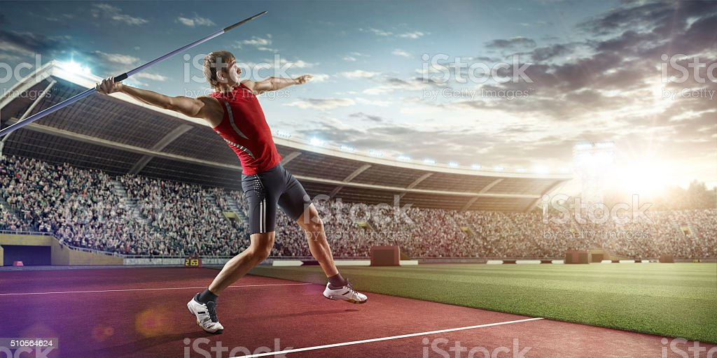 Javelin thrower stock photo