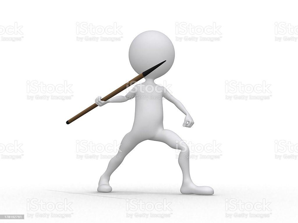 Javelin throwing stock photo