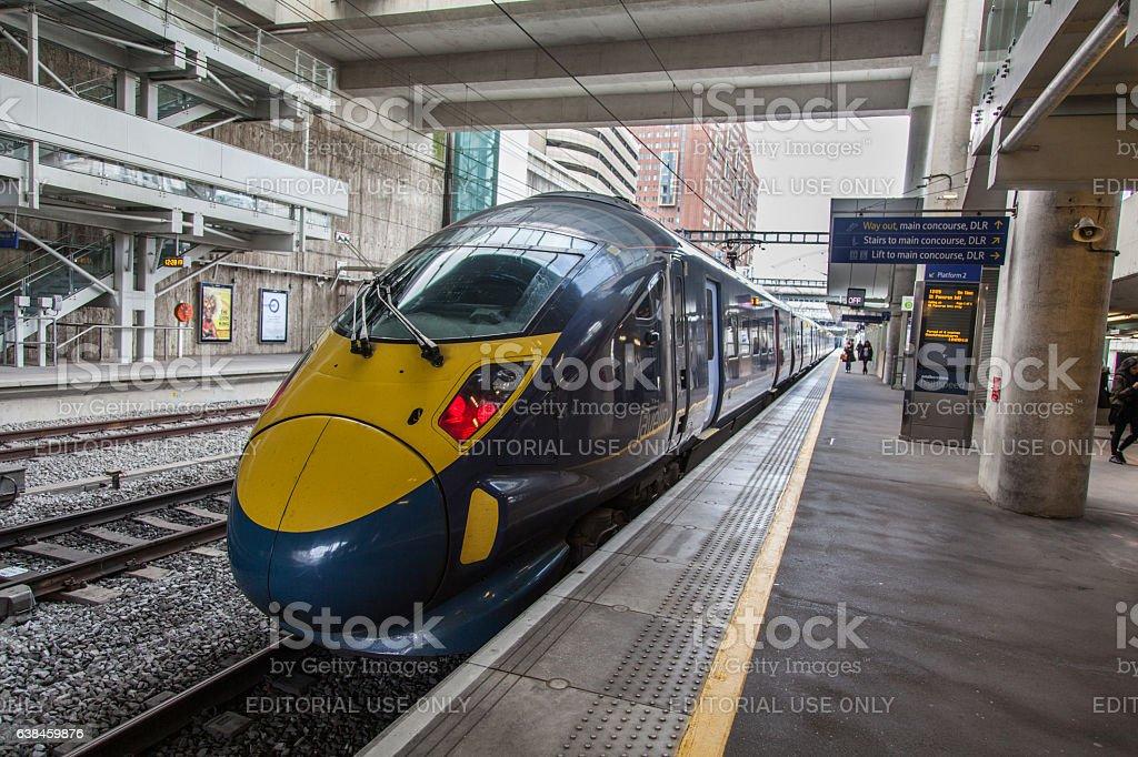 Javelin Train - UK Class 395 Electric Multiple Unit stock photo