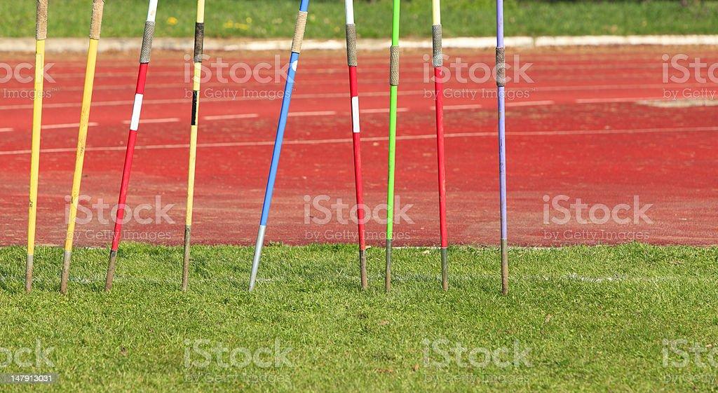 Javelins stock photo