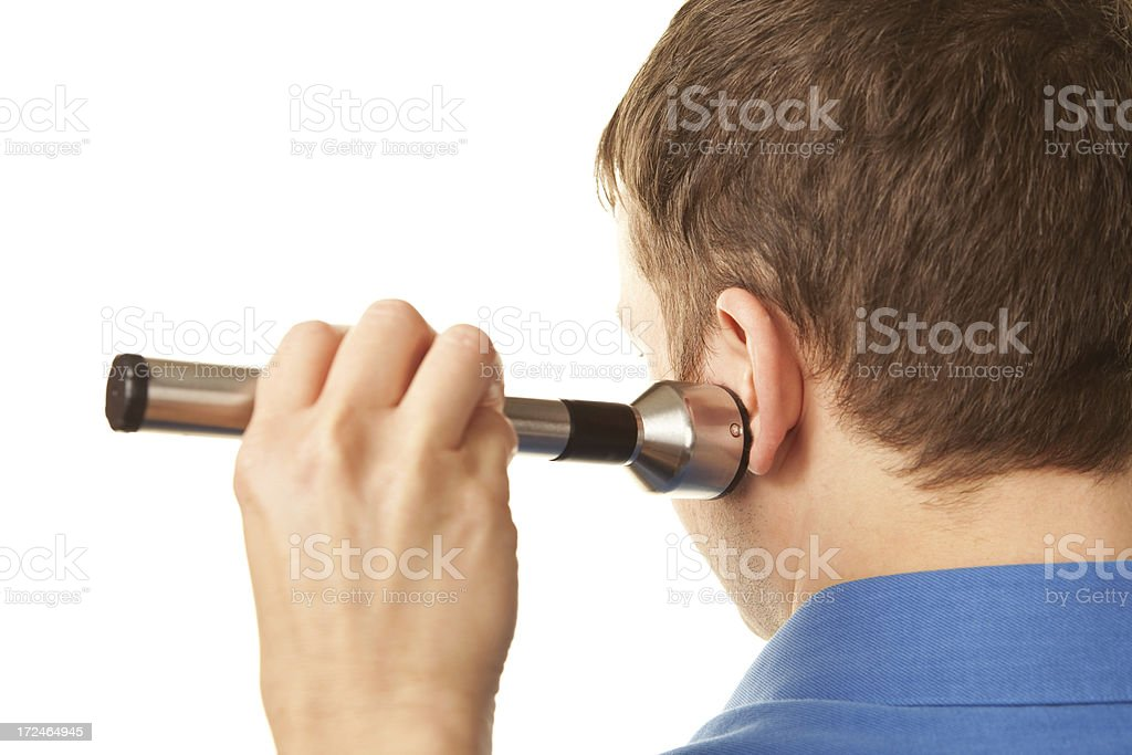 Jaw Laser Physical Therapy for TMJ Pain stock photo